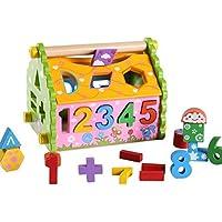 幼児期のゲーム 子供のための美しい木製の形状ソーター幾何学的な並べ替えの家庭教育形状色認識玩具