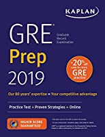 GRE Prep 2019: Practice Tests + Proven Strategies + Online (Kaplan Test Prep)
