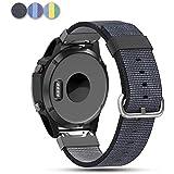 Garmin Fenix 5 Nylon Band, Feskio Soft Woven Nylon Quick Release Replacement Wrist Watch Band Strap for Garmin Fenix 5/Forerunner 935/Approach S60