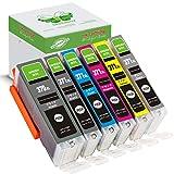 【GREENBOX】Canon(キャノン)互換インクカートリッジ BCI-371XL (BK/M/C/Y/GY)+370XL(BK)【増量タイプ】6色セット【全色大容量】[Canon]新互換インクカートリッジ LED・残量表示付き (最新型ICチップ付き) 対応機種: PIXUS MG7730F PIXUS MG7730 PIXUS MG6930 TS6030 TS8030 TS9030 TS5030 MG5730
