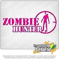 ゾンビハンタースレッドクロスハンティングキラー Zombie Hunter thread cross hunting killer 20cm x 8,5cm 15色 - ネオン+クロム! ステッカービニールオートバイ