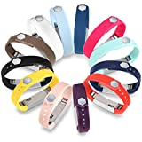GinCoband 12PCS Fitbit Alta Bands Replacement with Clasp For Fitbit Alta,Fitbit Alta HR Sport Arm Band No tracker