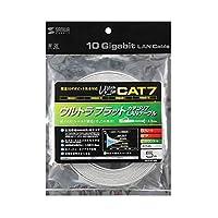 10GBASE完全対応。 サンワサプライ CAT7ウルトラフラットLANケーブル(5m、ホワイト) KB-FLU7-05W 〈簡易梱包