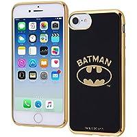 iPhone 8/7/6s/6 バットマン/TPUソフトケース メタリック/バットマンロゴ