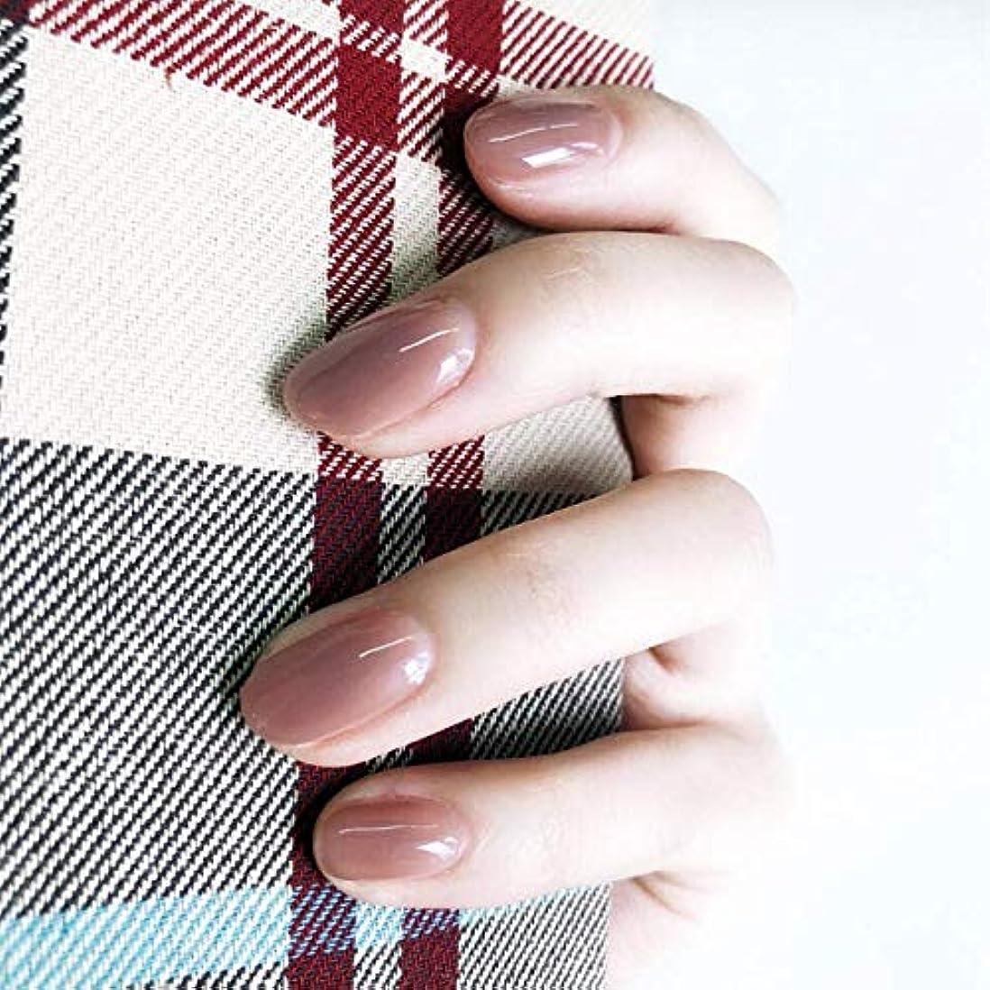 モールス信号振幅コロニー24枚入 無地ネイルチップ 可愛い優雅ネイル ins流行する ゼリーネイルチップ 多色オプション 結婚式、パーティー、二次会など 入学式 入園式 ネイルジュエリー つけ爪 (グレーピンク)