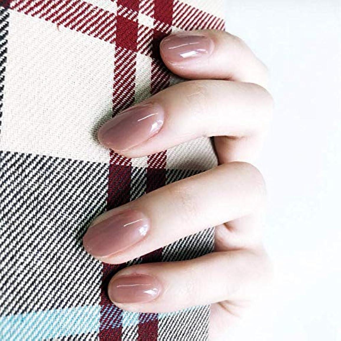 立証する計画的第二に24枚入 無地ネイルチップ 可愛い優雅ネイル ins流行する ゼリーネイルチップ 多色オプション 結婚式、パーティー、二次会など 入学式 入園式 ネイルジュエリー つけ爪 (グレーピンク)