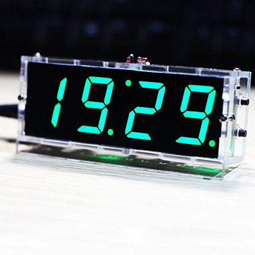 KKmoon LED時計 DIYデジタルLED時計キット 4...