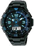 [シチズン キューアンドキュー]CITIZEN Q&Q 電波ソーラー腕時計 SOLARMATE (ソーラーメイト) アナログ表示 クロノグラフ機能付き 10気圧防水 ウレタンバンド ブルー×ブラック MD06-335 メンズ