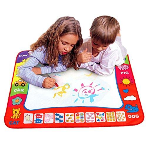 Aupooe 子供おもちゃ お絵描き スイスイおえかき アクア落書き 知育玩具 絵かきボード 落書き 面白い 学習 認識力 創造力 誕生日プレゼント 新年 クリスマス 男の子 女の子 子供用 描画ボード