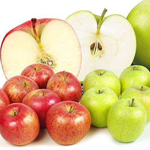 国華園 青森産 りんごセット【ふじ・王林】 10kg1箱(2種各5kg) フジ 王林りんご
