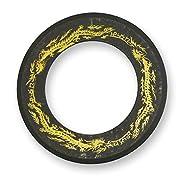 手裏剣 AD-61 黒燻し 4インチ 戦輪 (チャクラム) 10.5cm 黄