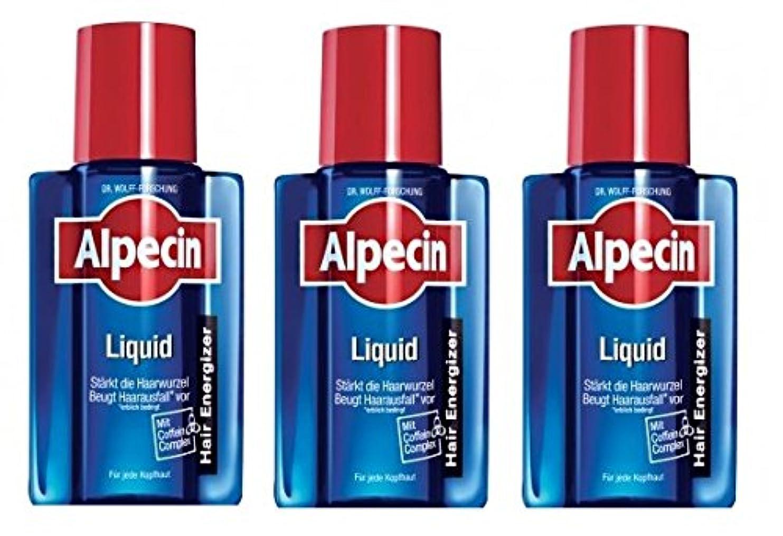 毒性多様な受益者3本まとめ買い ALPECIN オーガニックシャンプー アフターシャンプーリキッド 200ml [並行輸入品]