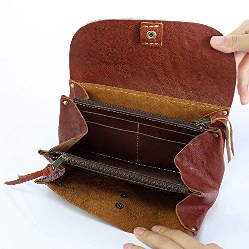 cham ( チャム )革 ( レザー ) ハラコ 長財布 財布 レディース メンズ / キャメル PN-002CAM