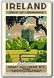 Land Of Romance, Ireland, Europe vintage travel fridge magnet - ?????????
