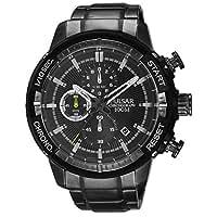 [セイコー パルサー]SEIKO PULSAR 100m防水 1/10秒クロノグラフ ブラック 腕時計 メンズ PM3049 [並行輸入品]