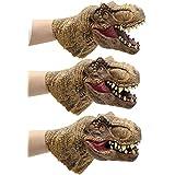 Yolococa Dinosaur Hand Puppet Toys Realistic Latex Raptor Dinosaur Head Tyrannosaurus Rex,1 pc3