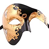 Xvevina Unisex Half Face Phantom of The Opera Costume Masquerade Mask