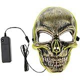 Homyl ライトマスク LEDマスク ハロウィン 雰囲気作り 写真用 お化け 幽霊 恐ろしい