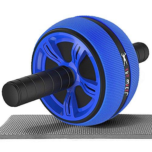 腹筋ローラー maxspt フィットネスローラー 超静音 エクササイズローラー アブホイール スリムトレーナー 安定 筋力トレーニング 膝マット付き 自宅用