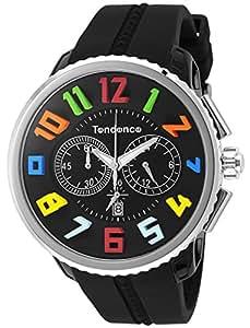 [テンデンス]TENDENCE 腕時計 ガリバーラウンドレインボー ブラック文字盤 TG046013R 【並行輸入品】