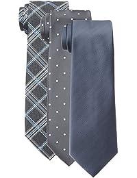 (はるやま) HARUYAMA 15種類から選べる 洗えるネクタイ 3本セット 洗濯ネット付き
