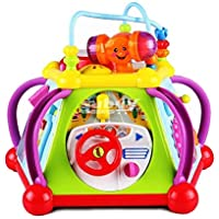 MeeYum 知育玩具 幼児 子供 音楽玩具 アクティビティキューブ 光と音とインタラクティブな遊び時間 学習と開発用