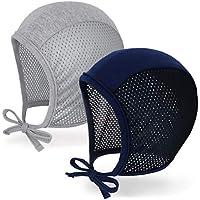 JELLYTREE Baby Hat Bonnet Breathable Mesh Pilot Cap Hearing Aid Hats Infant Toddler Boys Girls Beanies, 3m 6m 12m