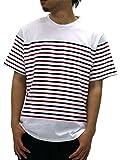 FIRST DOWN(ファーストダウン) 大きいサイズ メンズ Tシャツ 半袖 ボーダー ホワイト 3L