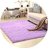 滑り止めの豪華な敷物は居間の長方形のコーヒーテーブルのソファーベッドのふわふわのカーペットのマットのために適した、厚さ3.5cm 7サイズで利用できる(200cm x 300cm) (Color : 紫の, Size : 160x200CM)