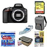 Nikon デジタル一眼レフカメラ D3500 ボディ D3500 + アクセサリー6点セット(SDカード 32GB、カメラリュック、液晶保護フィルム、レンズクリーニングティッシュ、ドライボックス、乾燥剤)