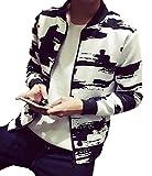 (レフティ) メンズ ジャケット オールシーズン 薄手 ナイロン ジャンパー 白 黒 ブラック