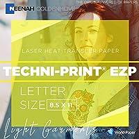 techni-print EZPレーザーライト熱転送50シート8.5X 11用紙レーザープリンタのライトの衣類Tシャツ