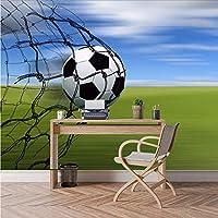 Wuyyii 大カスタム3D写真壁紙サッカーフィールドサッカー壁紙用3 Dリビングルームカフェバー家庭用壁紙アート-280X200Cm