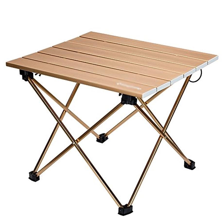 蜜チャネル周囲HUO,テーブル ポータブル屋外アルミ合金超軽量折り畳み小さなテーブルダイニングテーブル - 40 * 34 * 32センチメートル 多機能