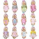 メルちゃん 着せ替え服 お人形遊び 可愛いドレス ワンピースセット 12着