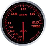 日本精機 Defi (デフィ) メーター【Defi-Link ADVANCE BF】ターボ計 200kpa (アンバーレッド) DF09902