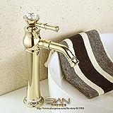 ラグジュアリー 12インチ ゴールドカラー バスルーム蛇口 バスバー 洗面台 蛇口 ミキサータップ シングルレバーハンドル