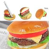 各種 スマートフォン 対応 食品サンプル スマホ スタンド/チーズバーガー