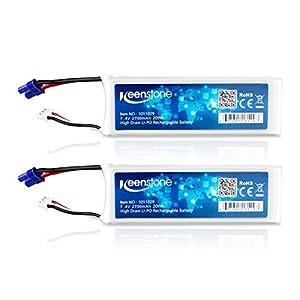 Keenstone Hubsan X4 H501S H501A H501C H501S Pro 2S 2700mAh 7.4V 10C 20Wh ラジコンDrone LiPo電池 2本