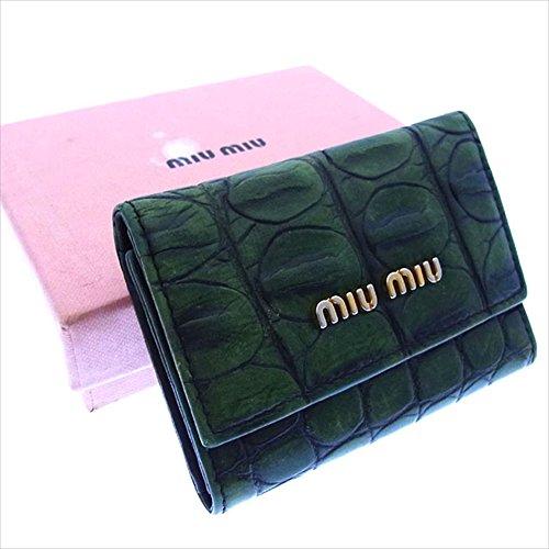 ミュウミュウ miumiu キーケース 6連キーケース レディース ロゴ入り 5M0222 クロコダイル調 中古 セール 良品 Y2386