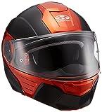 オージーケーカブト(OGK KABUTO)バイクヘルメット システム KAZAMI フラットブラック/オレンジ S (頭囲 55cm~56cm)
