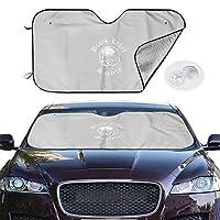 車用 サンシェード 紫外線カット 日焼け防止 ガラス用 断熱 ブラック・レーベル・ソサイアティ ロゴ カーフロントカバー 吸盤取付 普通車/軽自動車/SUVに適用