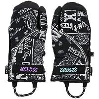 X-NIX(エクスニクス)メンズ Tri-Finger Gloves スノーグローブ スキー スノーボード ダウン入 XN378GL01