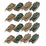 Perfeclan 16個 プラスチック タンクモデル 軍用車両モデル 模型玩具