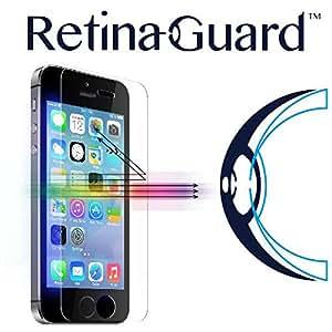 RetinaGuard iPhone5/5s/5c/SE ブルーライト90%カット 強化ガラスフィルム