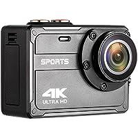 COOCHEER アクションカメラ 4K 防水 スポーツカメラ搀画素 WiFi搭載 170度広角 2インチLCD 64GBカード対応 HDMI出力 二つバッテリー ダイビング/スイミング/サーフィン 水中カメラ【日本語説明書付き】 (自体防水)