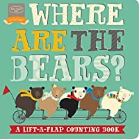 Bendon Where Are The Bears Lift-A-Flap Counting Learning Activity Toy Board Book Learning Toy [並行輸入品]