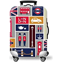 TDC Men's Elastic Luggage Cover Two People Printing