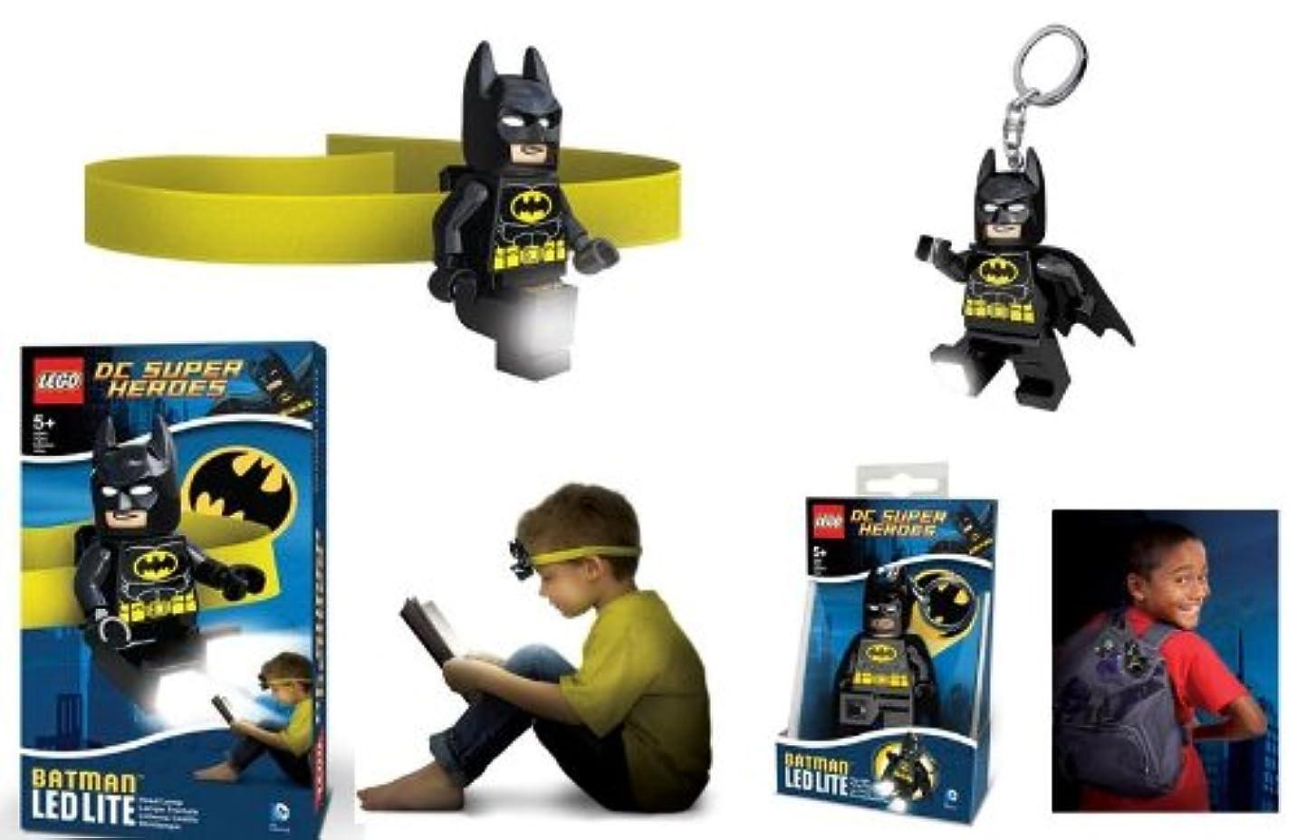 大破つまずくパワーセルLego Batman LED Head Lamp + LED Key Light