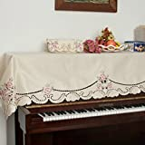 unusual 北欧 刺繍 アップライトピアノ おしゃれ トップカバー  ピアノカバー 防塵カバー ピアノ掛けカバー 花 高級